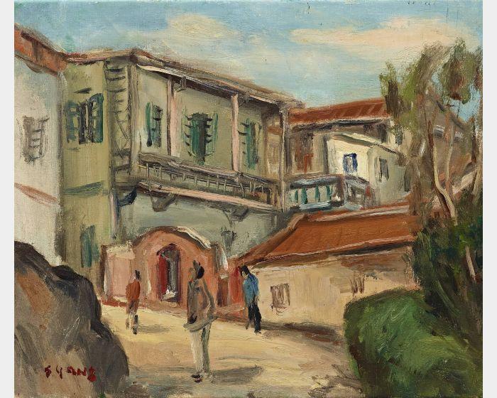 楊三郎-廈門所見(鼓浪嶼) 1935 油彩 45.5x38cm(8F)