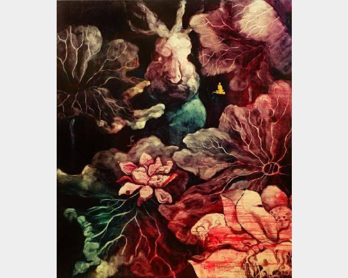 常陵-五花肉系列-肉宗教-兔兒神在花果山上