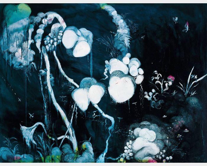 常陵- 五花肉系列-肉花鳥-野放蘭 2007 油彩 80F