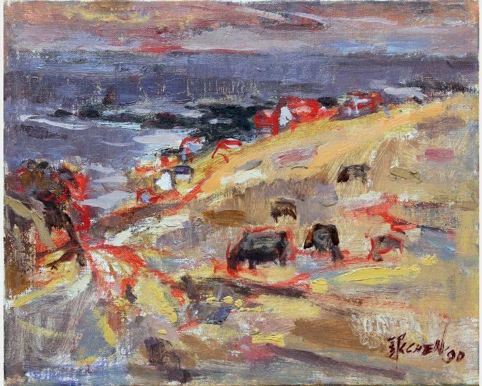 陳銀輝-海邊的牛群