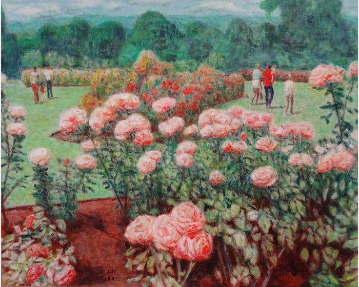 李石樵-玫瑰花園