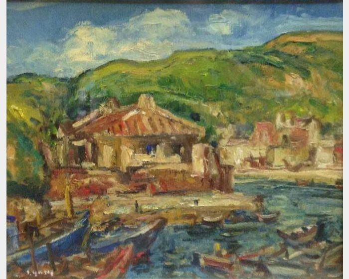 楊三郎-船塢