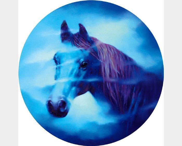馬東民-藍馬之十六