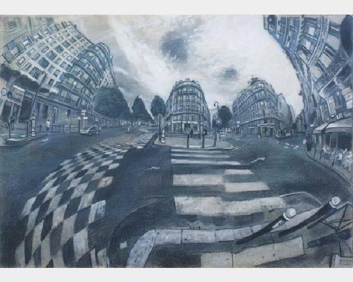 陳剛毅-巴黎街景  Street scene of Paris