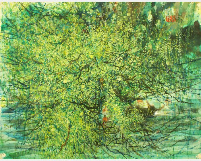 翁大成-綠樹掩映