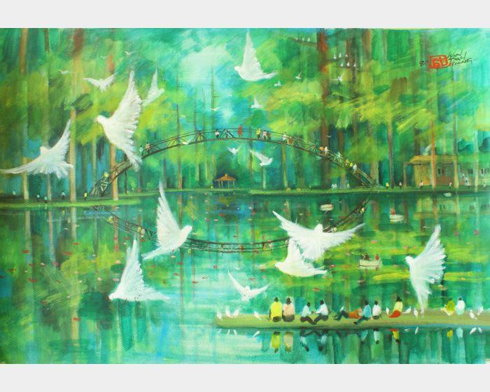翁大成-溪頭大學池