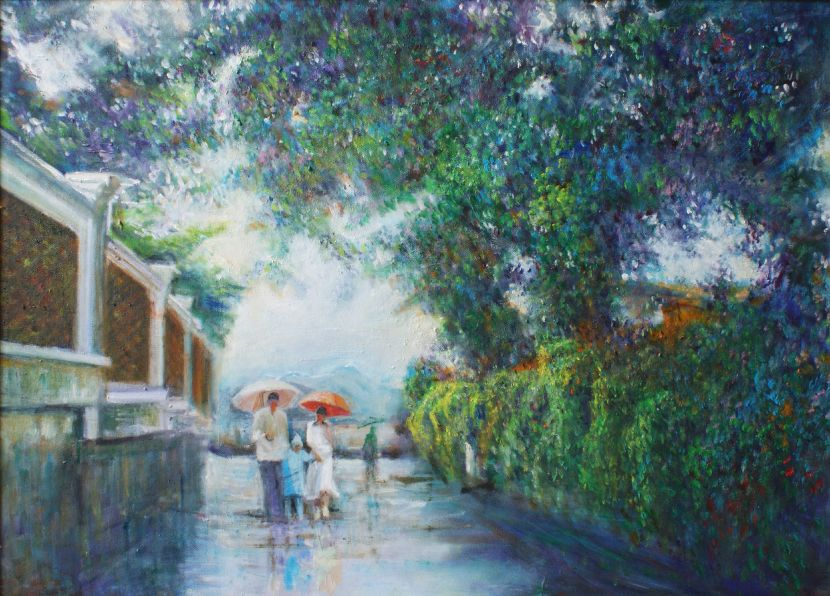 翁大成-雨中散步