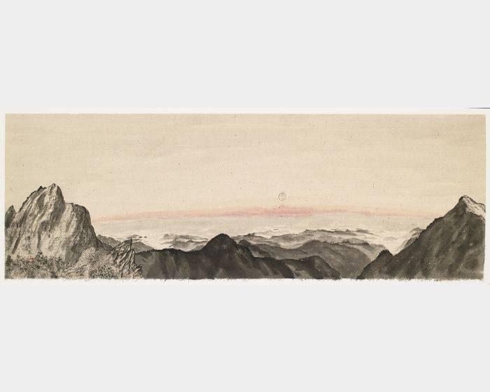 李賢文-玉山曉月之一