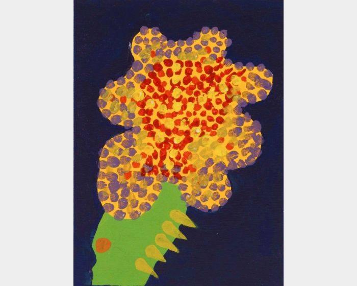 周蘭惠-藍 仙人掌