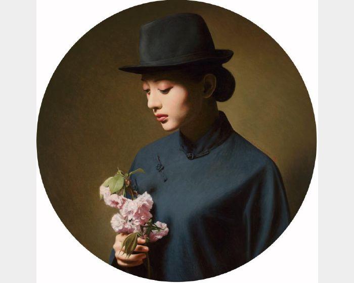 陳承衛-大民國-花思有期 Series on the Republic of China- Contemplating on the Flowers