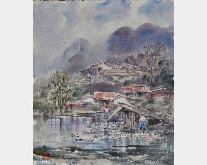 藍蔭鼎-河邊飼鴨