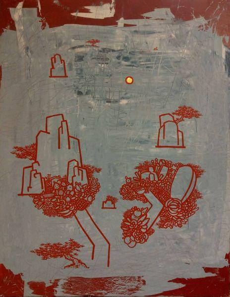 呂英菖-山中湖間尋日圖