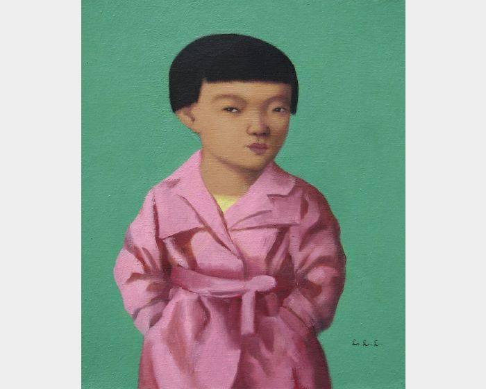 d-18穿粉紅外套的女孩