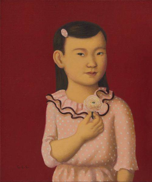林麗玲-手持毛莨的小女孩