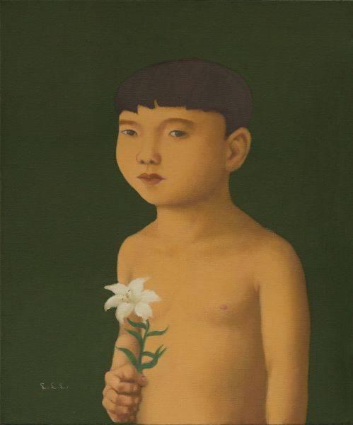 林麗玲-拿百合的小男孩