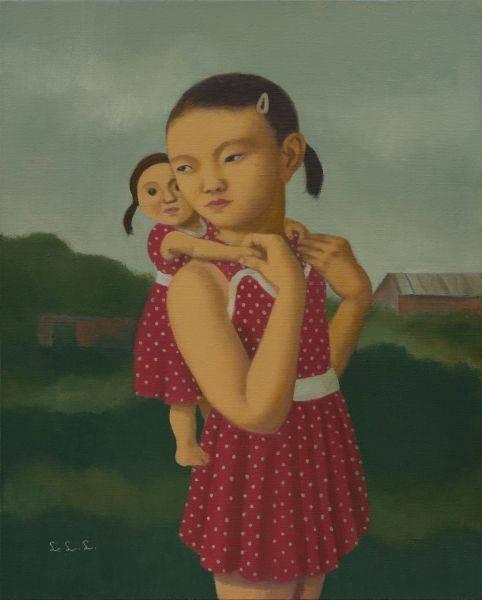 林麗玲-背著洋娃娃的小女孩