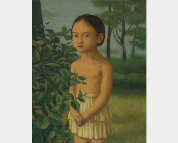 裸上身的小女孩