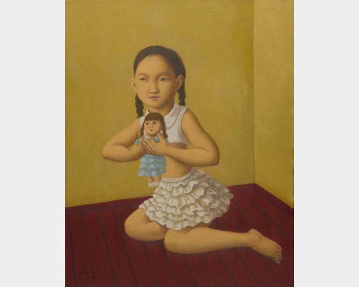 小女孩與洋娃娃