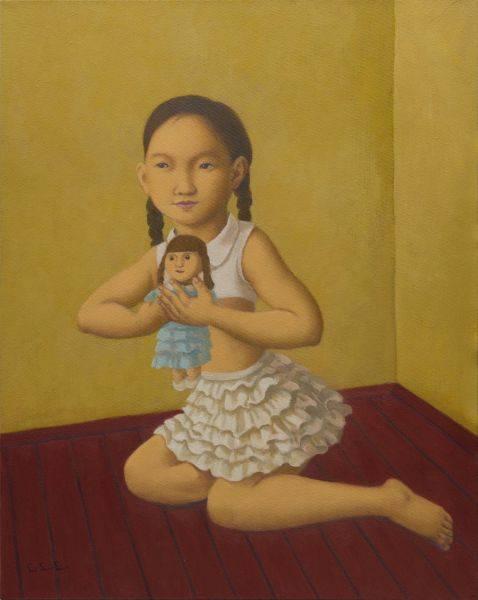 林麗玲-小女孩與洋娃娃