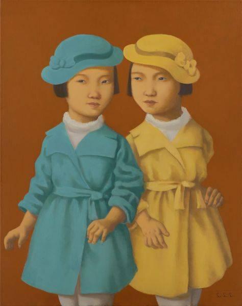 林麗玲-戴帽子的雙胞胎姊妹