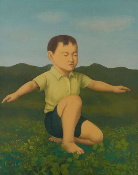 林麗玲-舉起雙手的小男孩