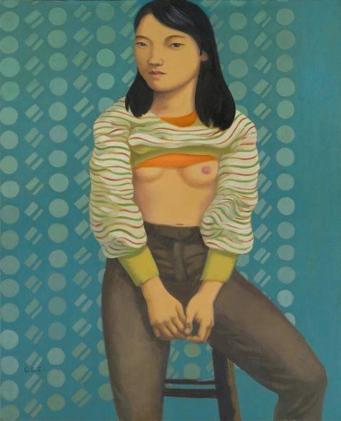 林麗玲-拉起上衣的女孩