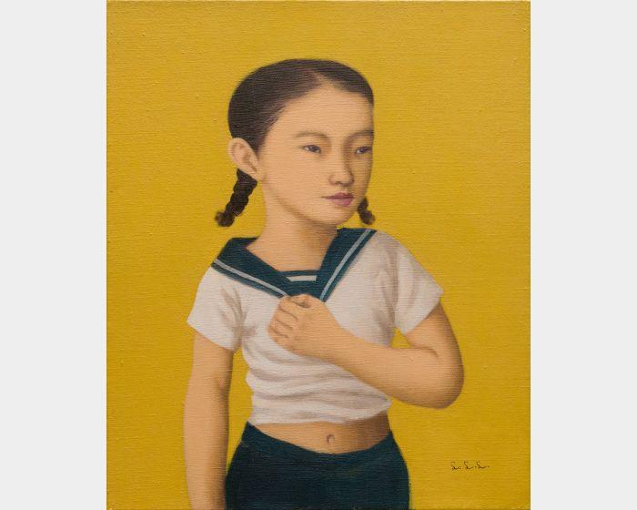 林麗玲-手放胸口的女孩
