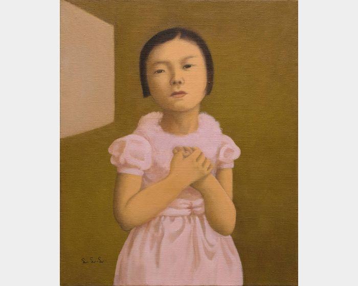 林麗玲-穿粉紅色禮服的小女孩