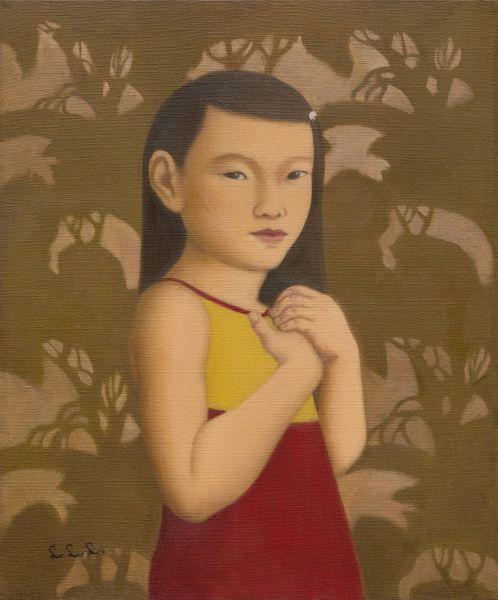 林麗玲-手抱胸口的小女孩