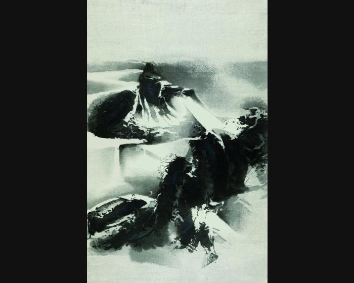 劉國松-寒山雪霽