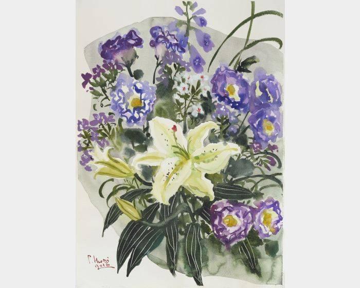 錦簇-紫梗百合