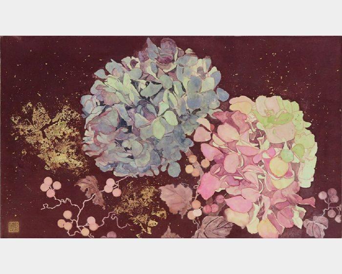 復古繡球花