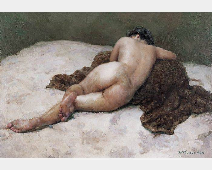 葉錫祚-背面卧着的女人體