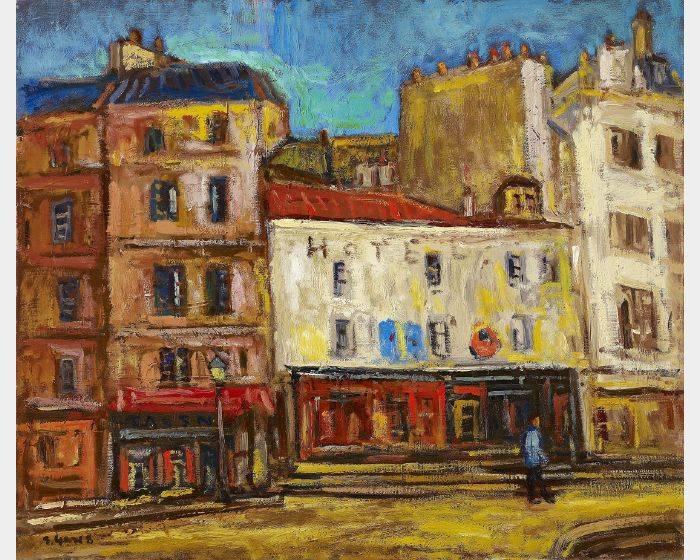 楊三郎-巴黎街頭(秋水街道)