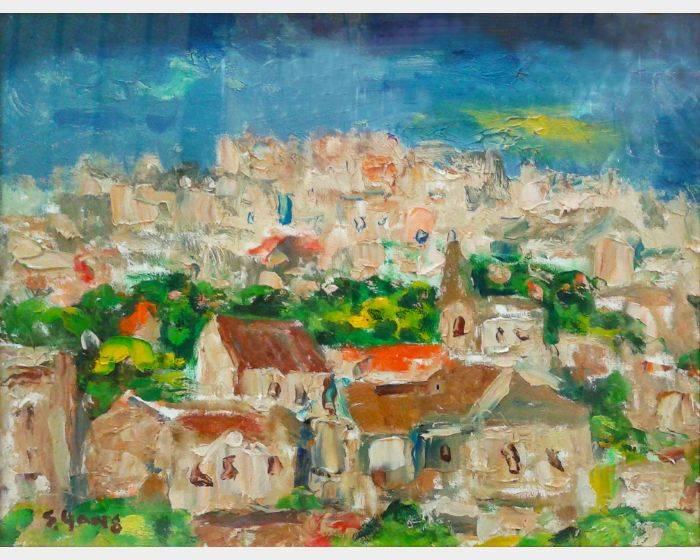 楊三郎-鳥瞰西班牙古城