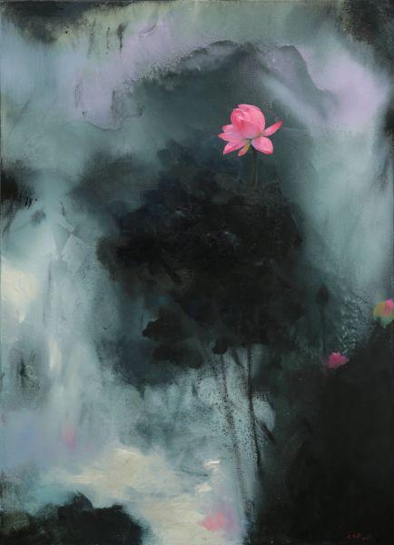 沈東榮-墨荷(3)