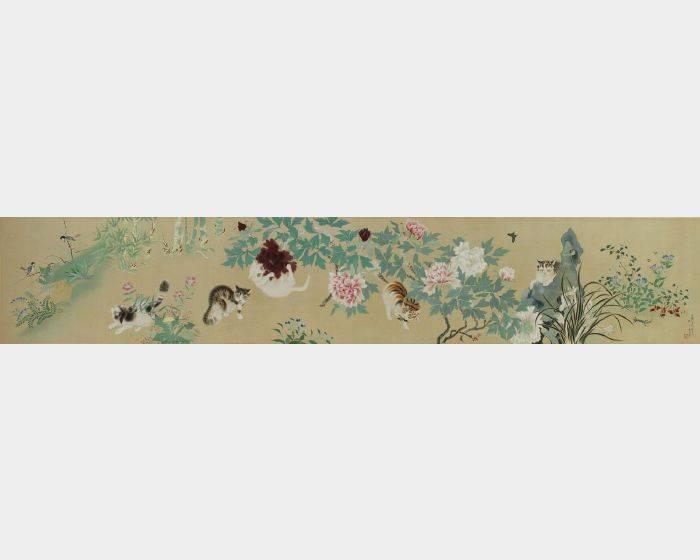 陳永森-五貓戲牡丹