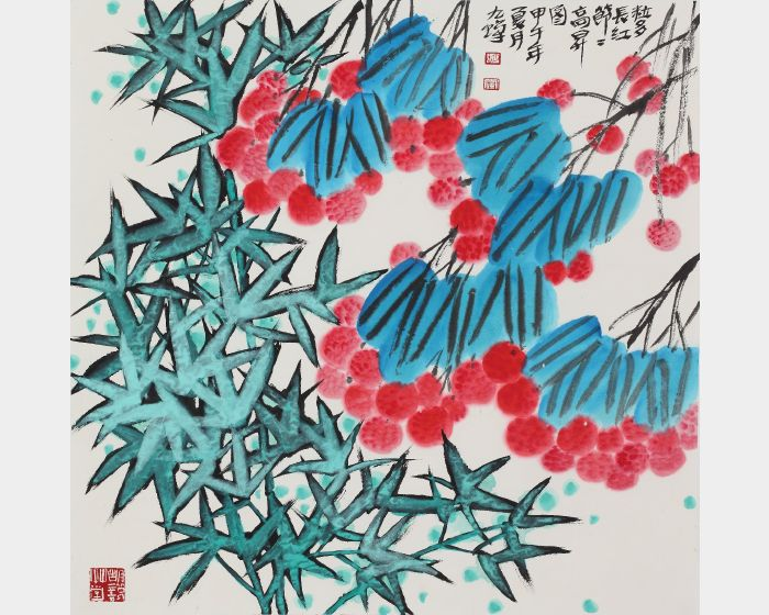 胡九蟬-粒多長紅節節高昇圖
