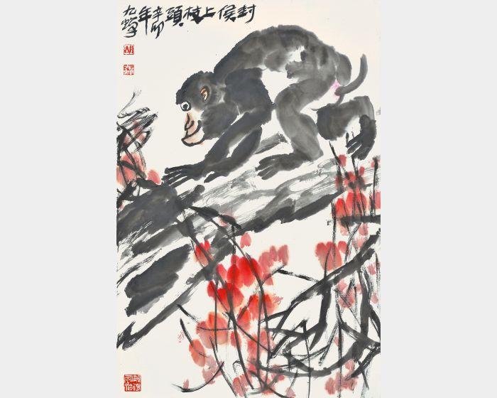 胡九蟬-封猴上枝頭