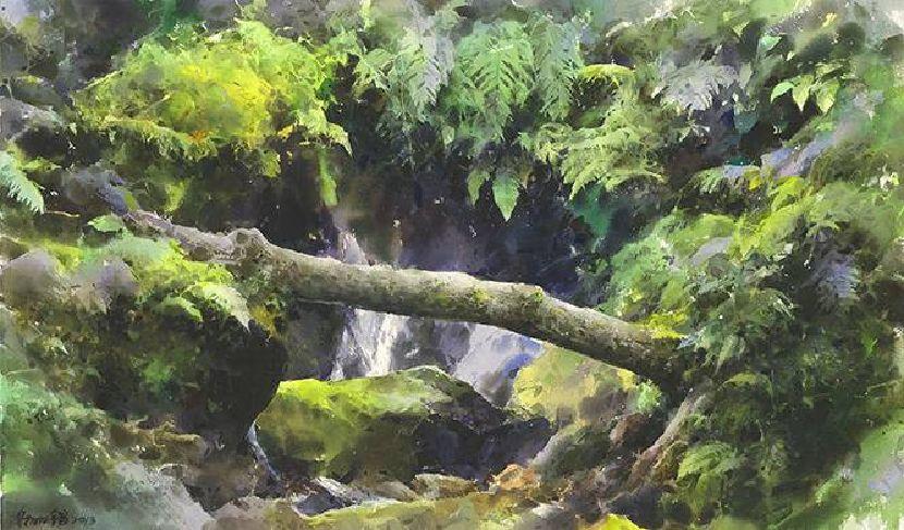 謝明錩-山溪小瀑