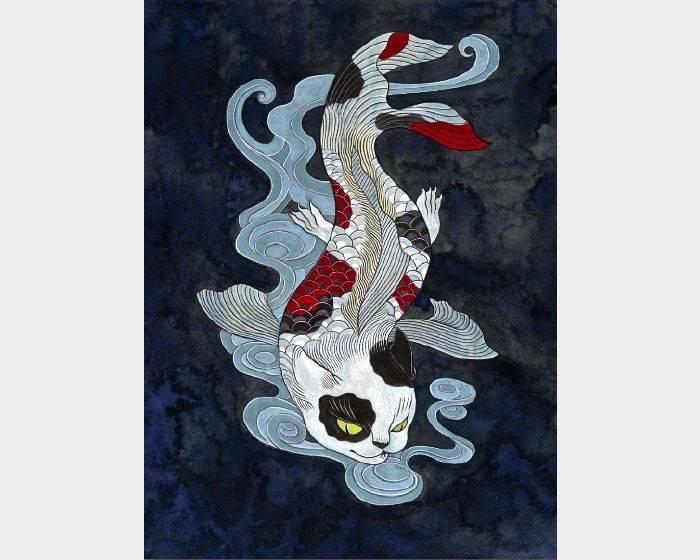 石黑 亞矢子-猫面魚(貓臉魚 a fish with a cat face)