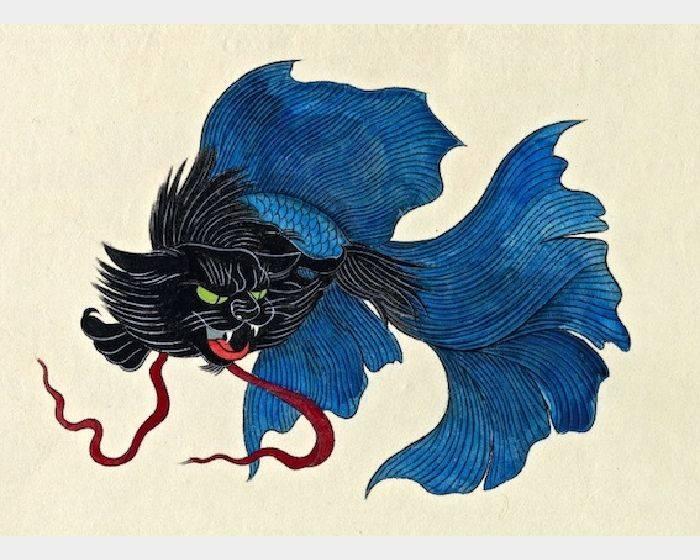 石黑 亞矢子-闘猫魚 蒼(斗貓魚 藍 blue fighting cat fish)