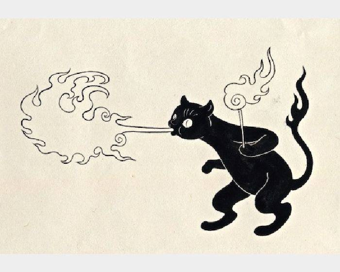 石黑 亞矢子-火吹き猫(噴火貓a fire breathing cat)