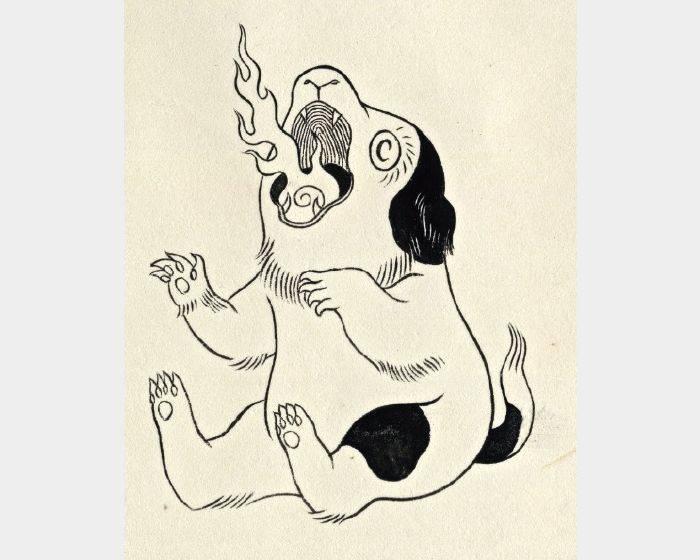 石黑 亞矢子-火炎子犬1(火焰小狗1 a flame puppy 1)
