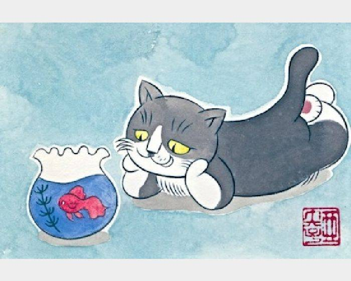 石黑 亞矢子-おいしそうな金魚(看起來很好吃的金魚mouth-watering goldfish)