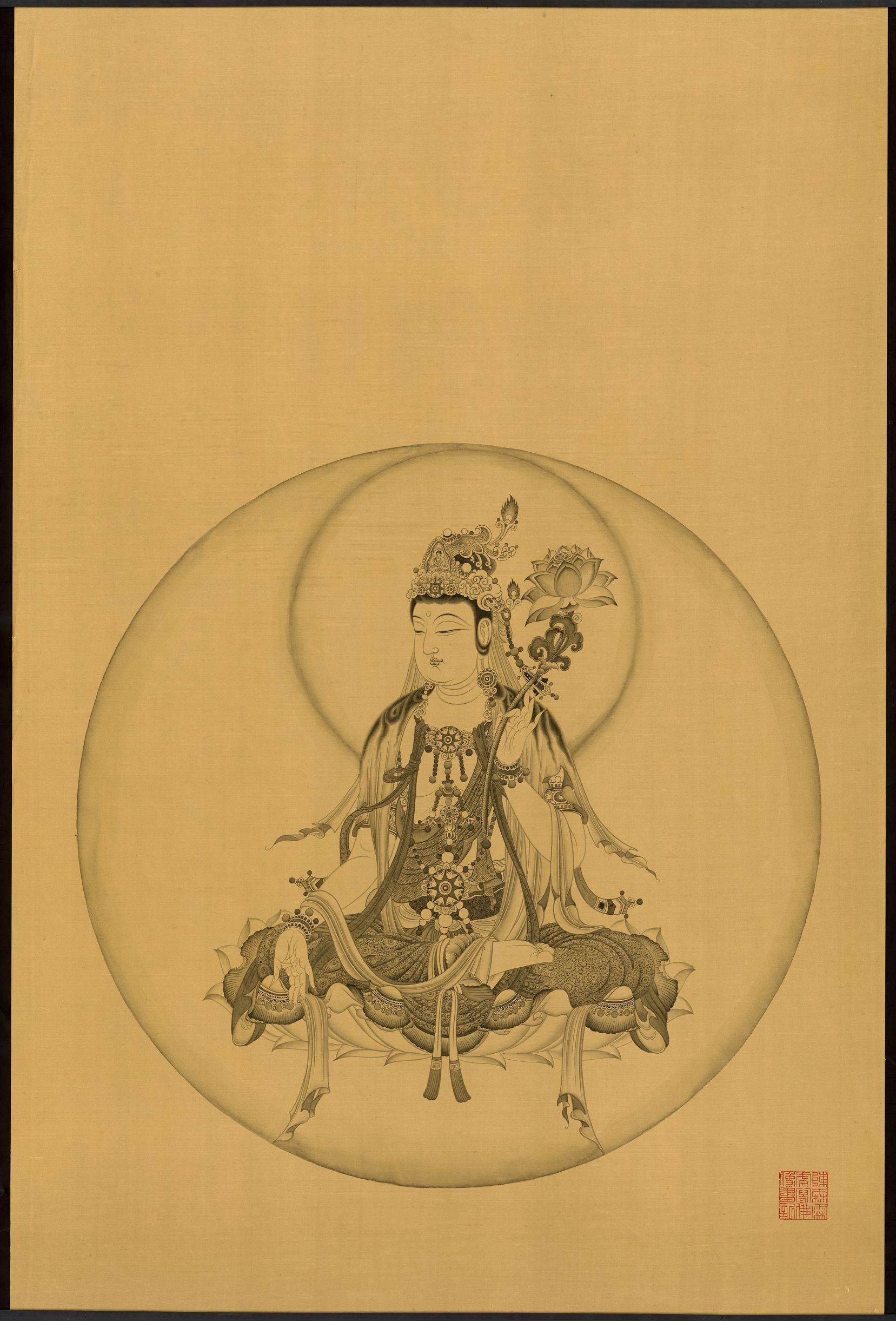 观音菩萨做莲纹身分享展示