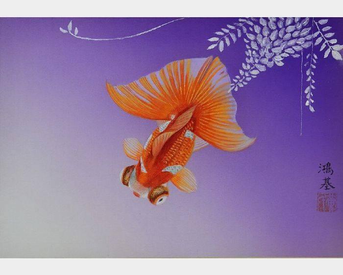 黃鴻基-日本金魚(紫)