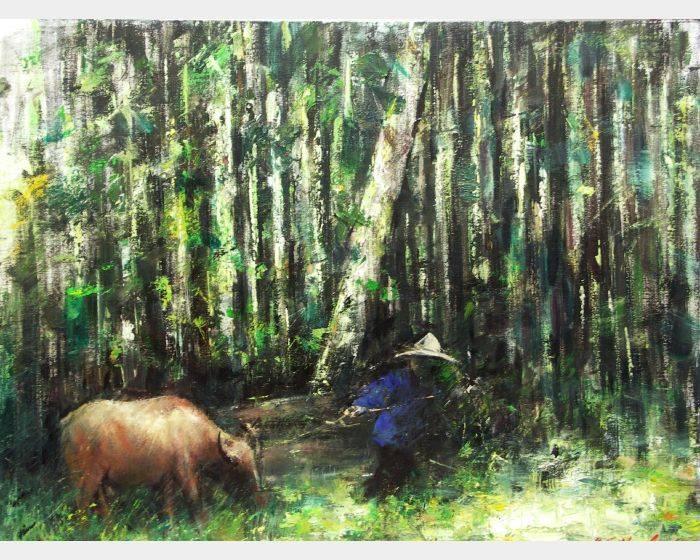 韋啟義-林間牧行Grazing in the Forest