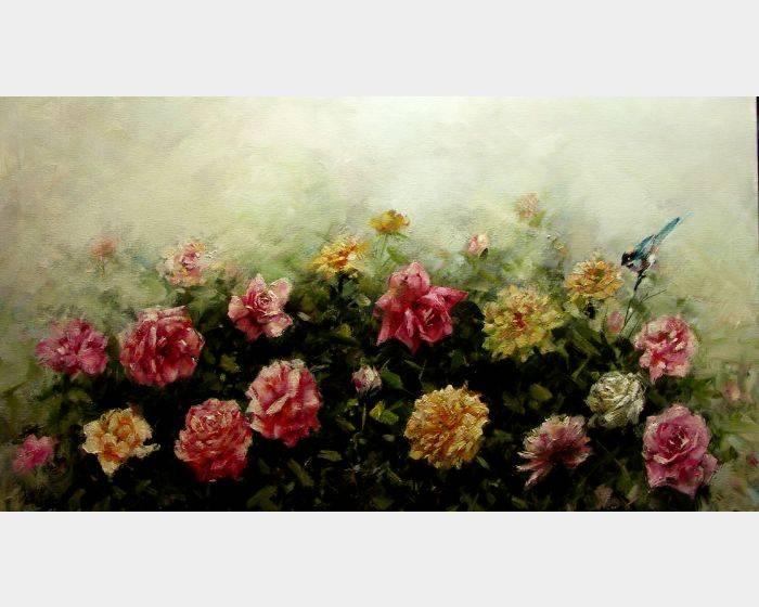 韋啟義-園裡花開 The Garden in Full Bloom