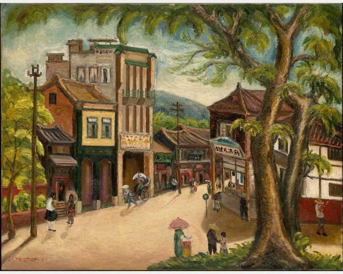 陳澄波- 嘉義街景 Chiayi Street Scene